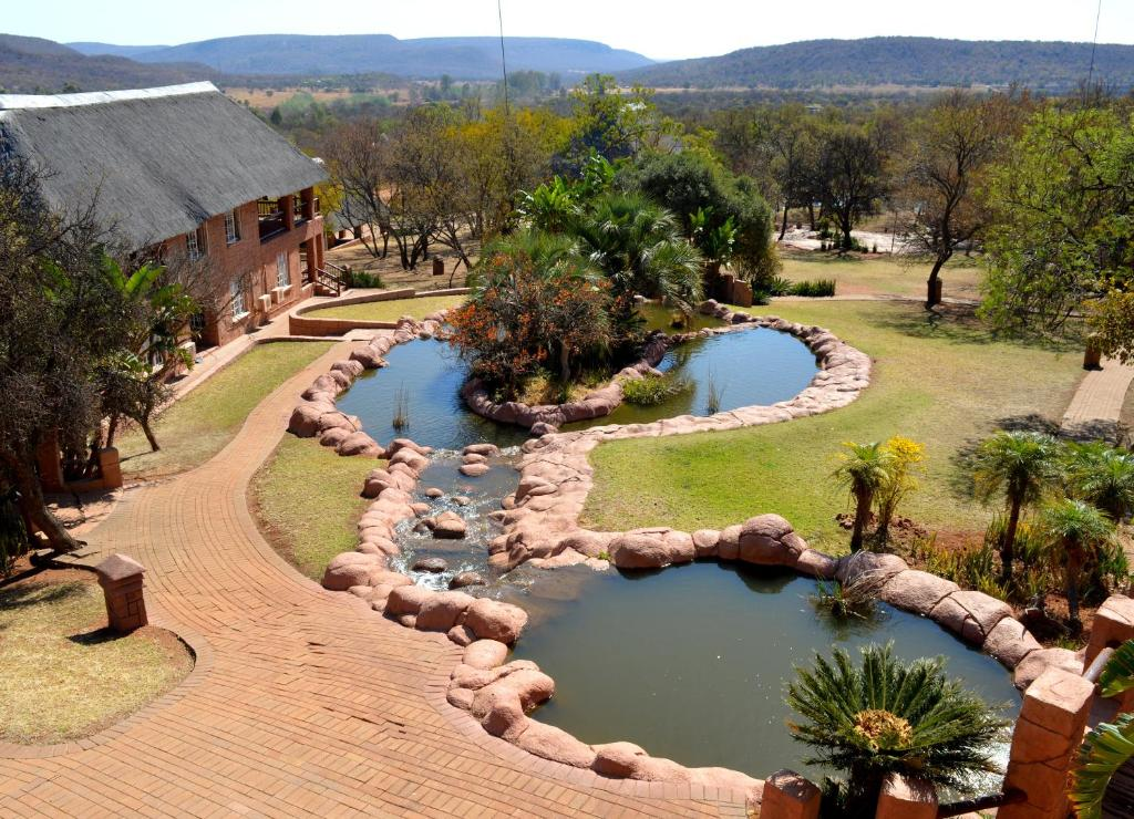 A bird's-eye view of Zebra Country Lodge