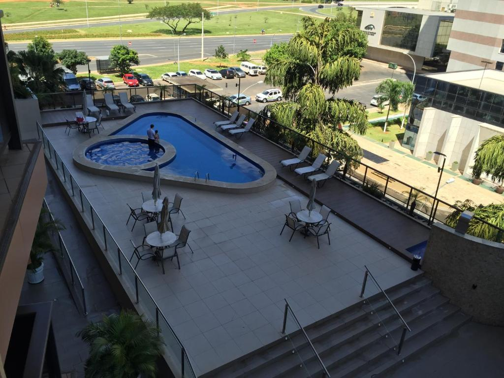 A view of the pool at Sateltour Apart Hotel or nearby
