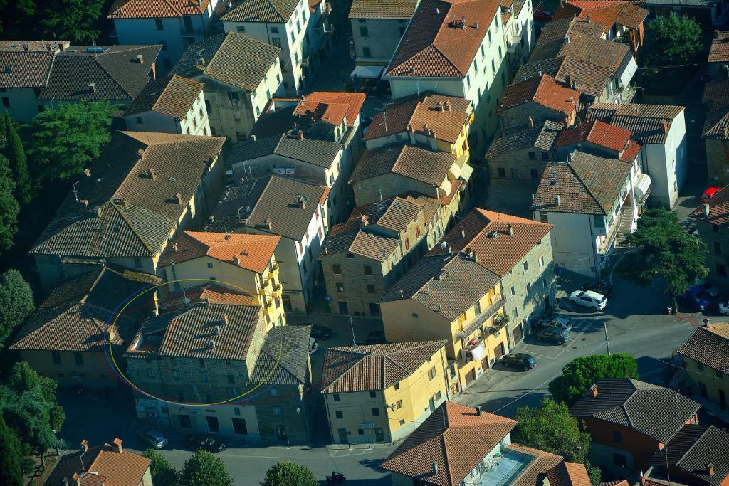 Vista aerea di Mansarda Marconi