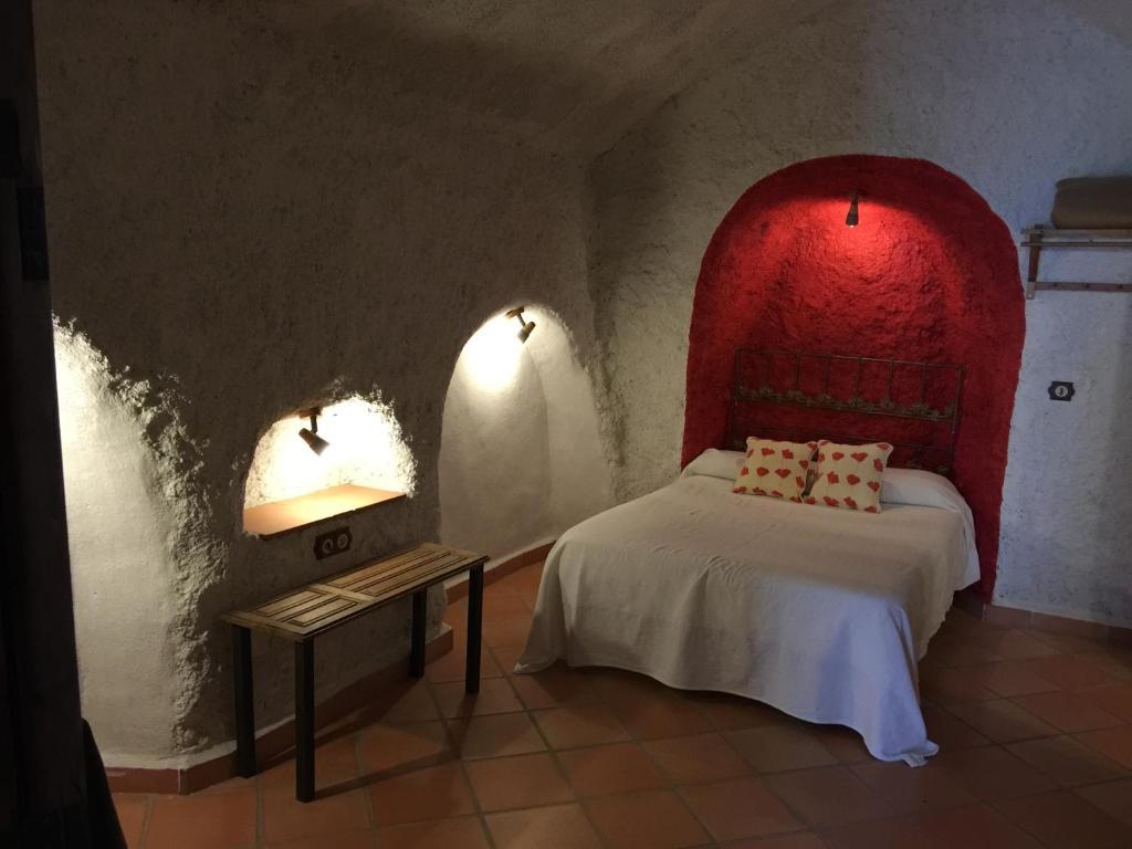 Cama o camas de una habitación en Casas Cueva La Tala