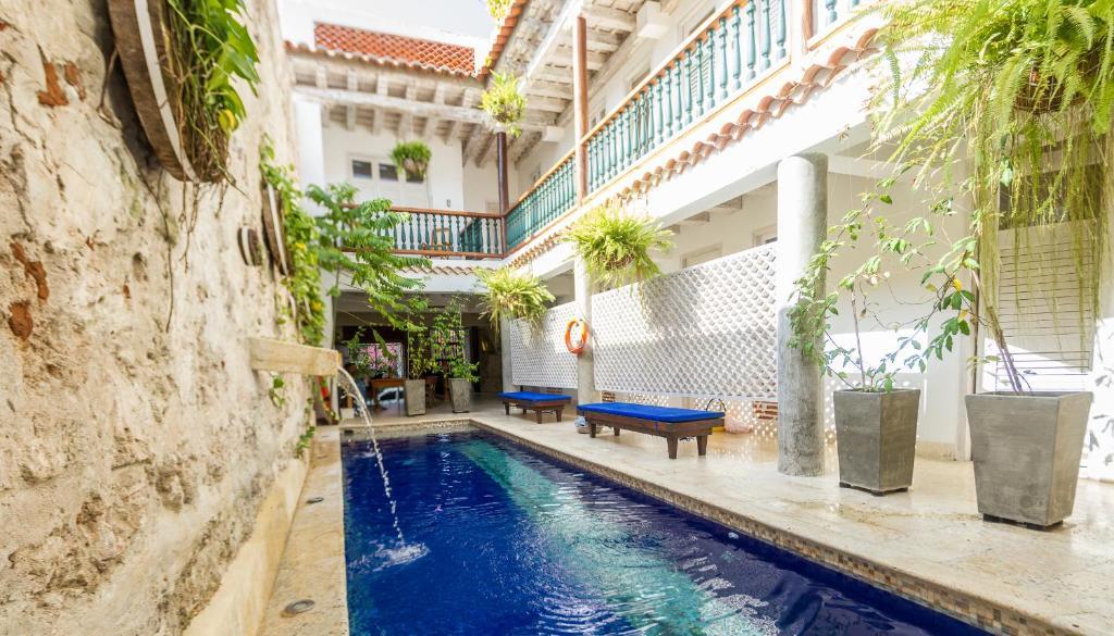 Piscine de l'établissement Casa Pizarro Hotel Boutique ou située à proximité