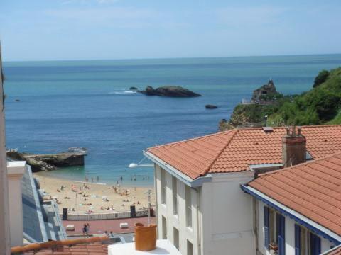 Vue générale sur la mer ou vue sur la mer prise depuis l'hôtel