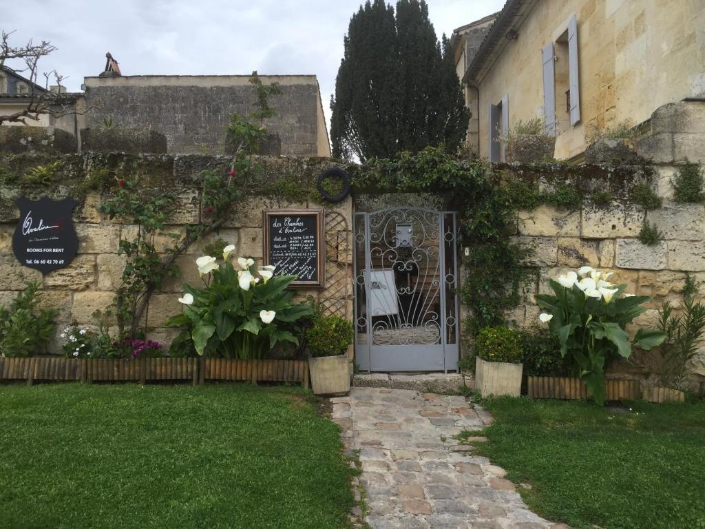 A garden outside Les Chambres d'Ovaline