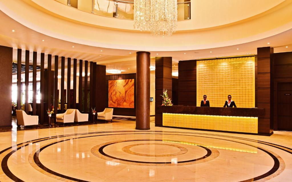 The lobby or reception area at DoubleTree by Hilton Nairobi