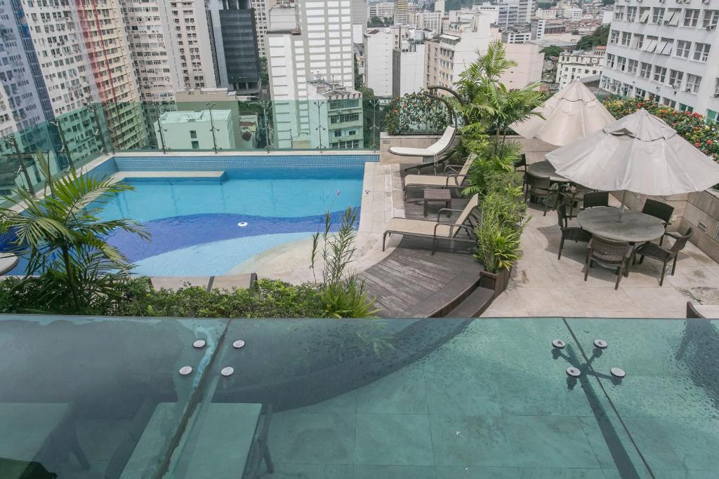 A view of the pool at Hotel Atlantico Tower or nearby