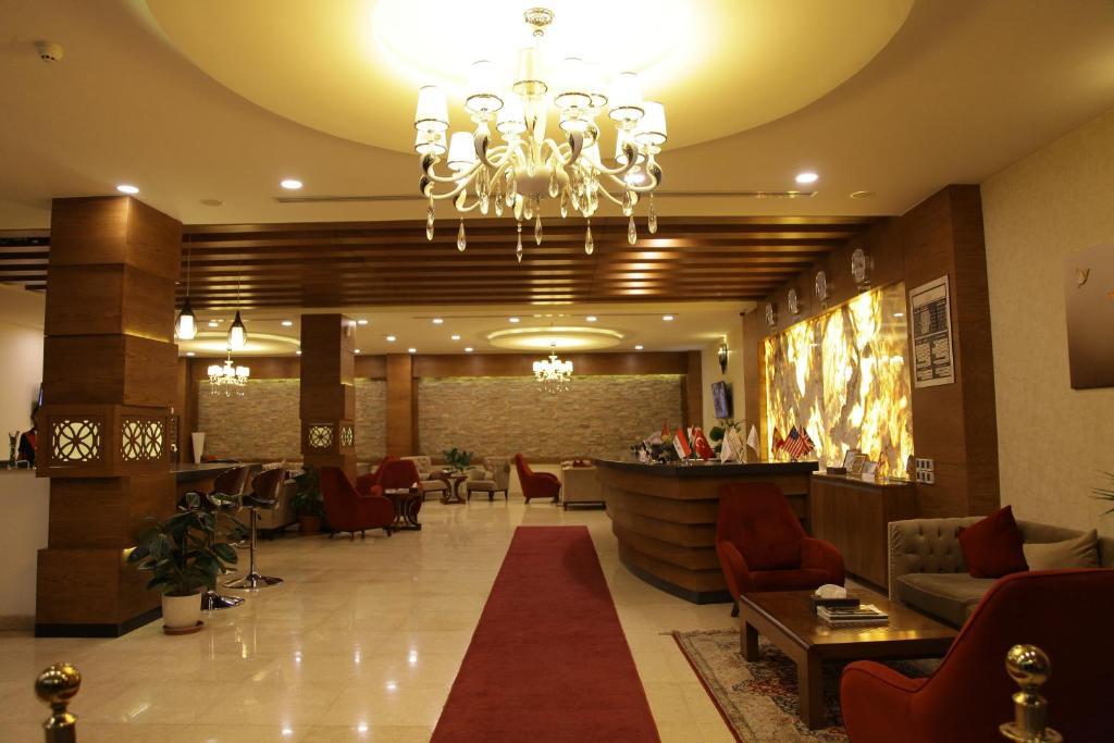 منطقة الاستقبال أو اللوبي في فندق كوينت اربيل