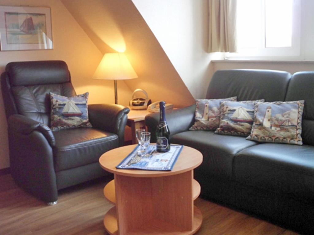 Lounge oder Bar in der Unterkunft Strandburg Juist - Apartment 301 (Ref. 50969)