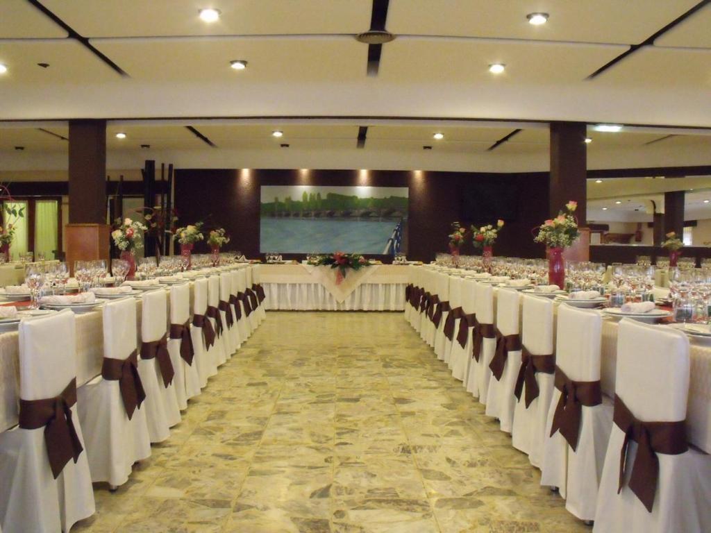 Salones de banquete en el hostal o pensión