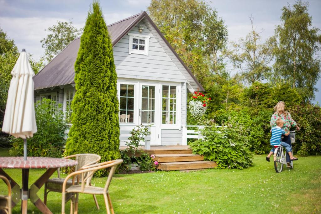 A porch or other outdoor area at Västriku Holiday Home