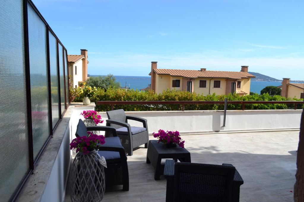 A balcony or terrace at B&B LINEABLU