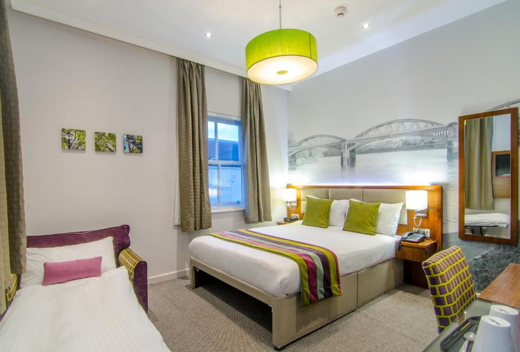 A room at the Seraphine Hammersmith Hotel.