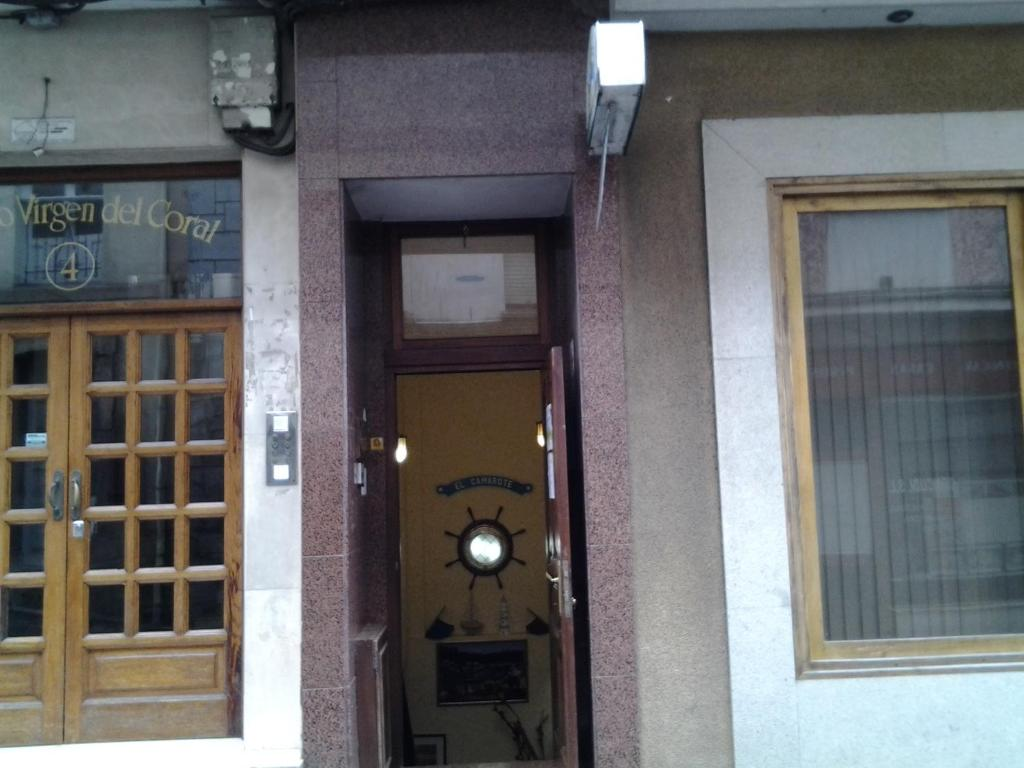 The facade or entrance of Pensión El Camarote