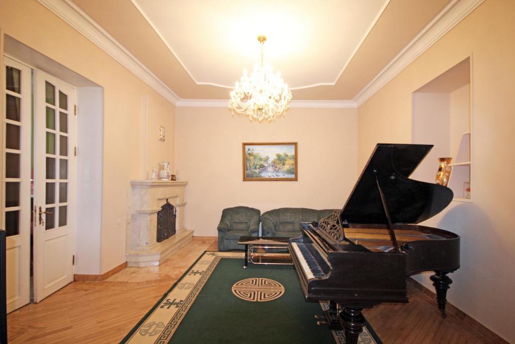 A seating area at Bridge House Yerevan Armenia