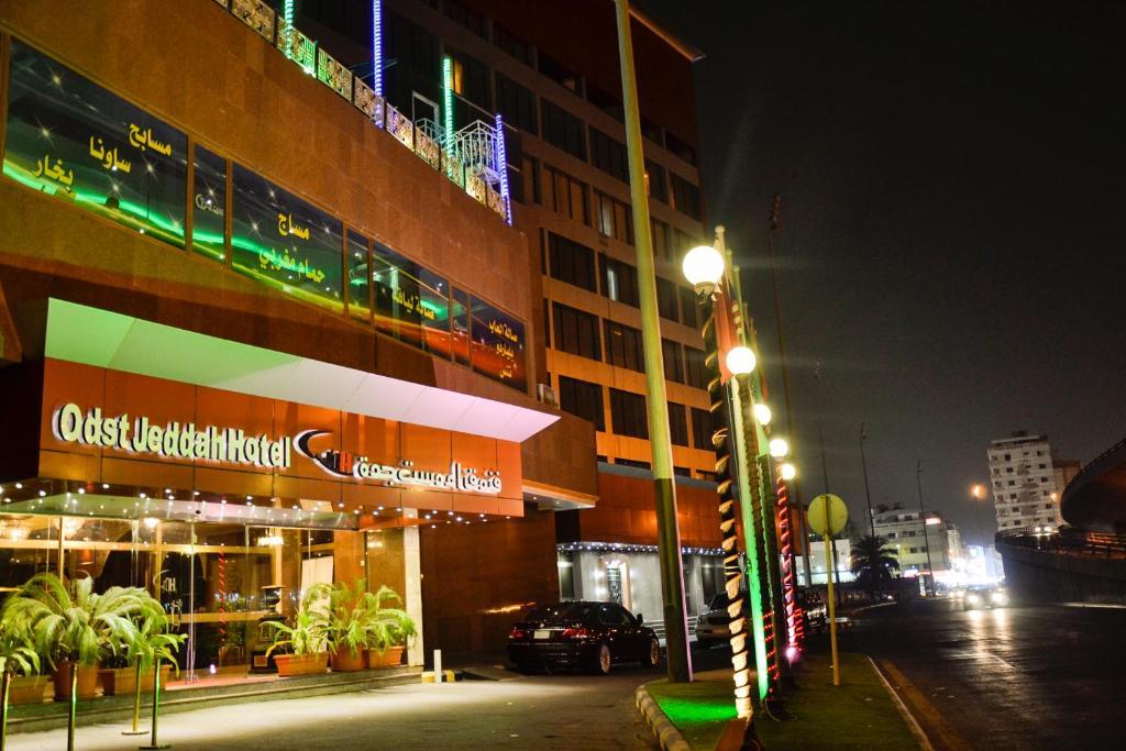 A fachada ou entrada em Odst Jeddah Hotel