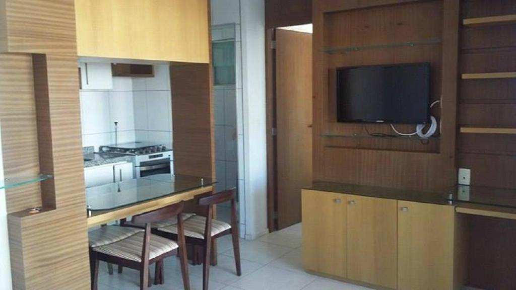 A kitchen or kitchenette at Flat Studio Iracema apto 602