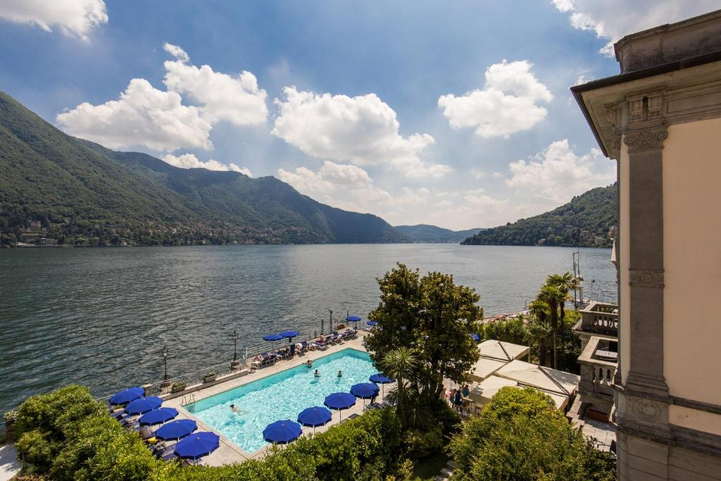 Вид на бассейн в Grand Hotel Imperiale Resort & SPA или окрестностях