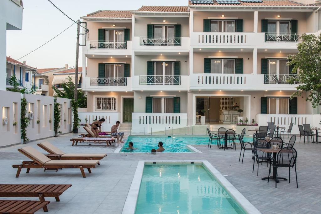 The swimming pool at or near Lefkadio Suites