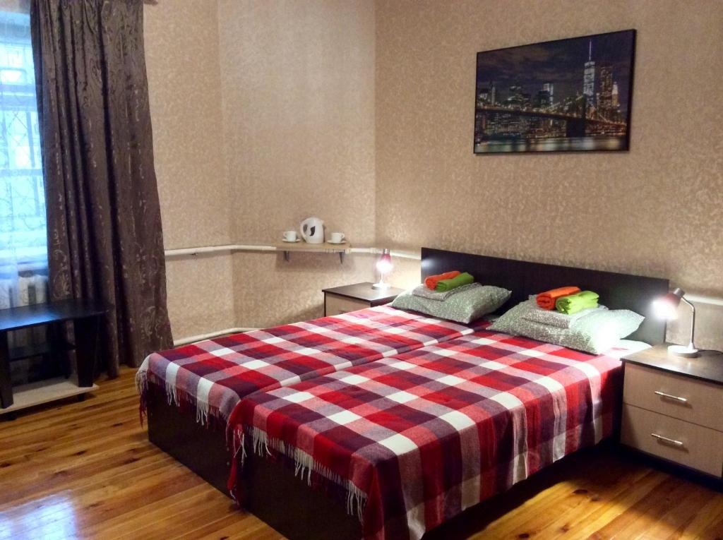 Кровать или кровати в номере Хостел «Бумеранг»