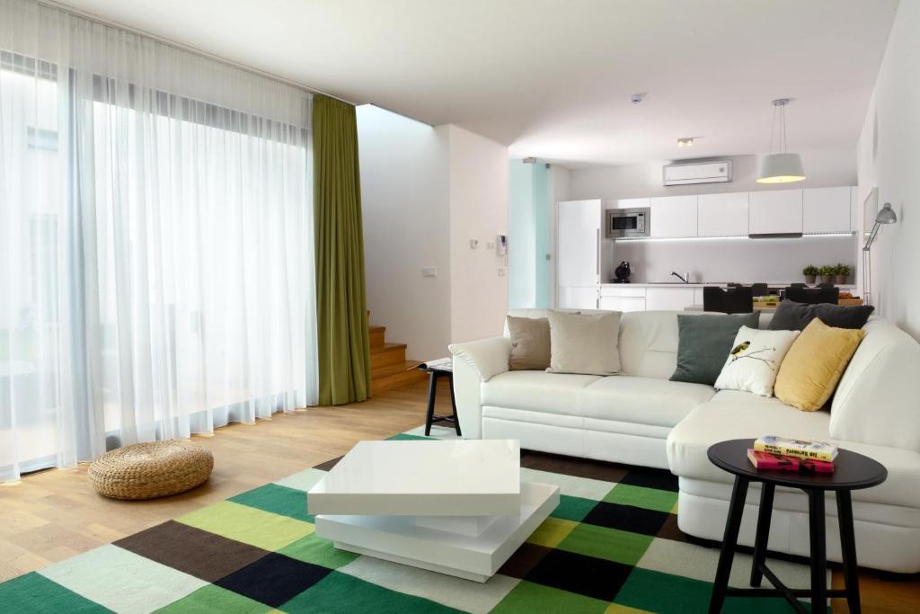 Lounge nebo bar v ubytování Apartmány Eden - Rezidence