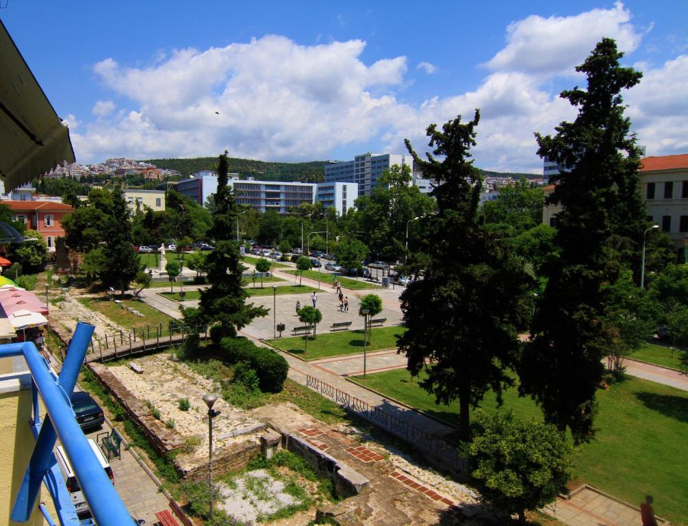 Γενική άποψη της πόλης Θεσσαλονίκη ή θέα της πόλης από  αυτός ο ξενώνας