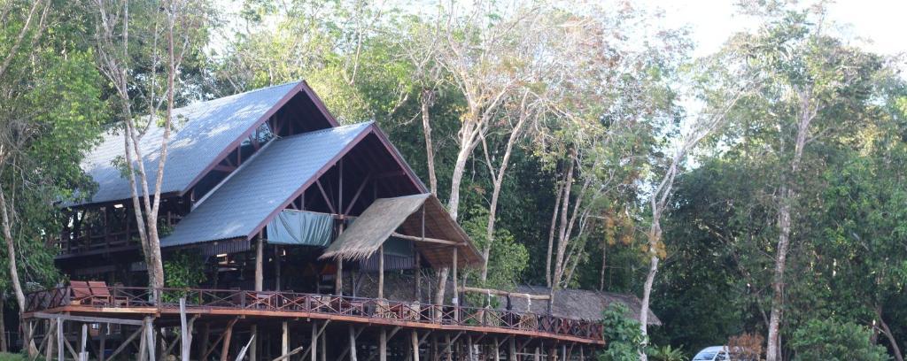 A garden outside Borneo Natural Sukau Bilit Resort