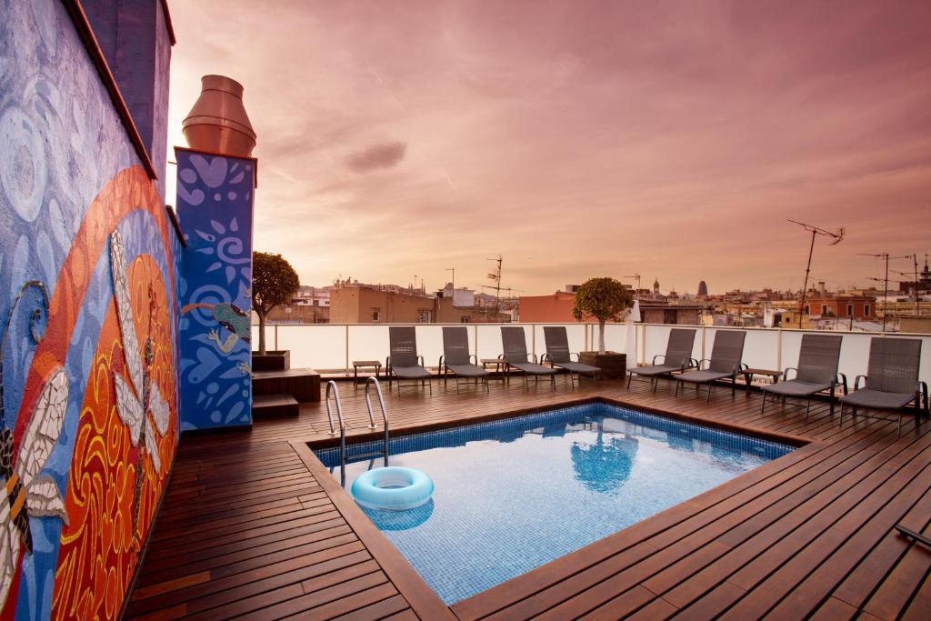 The swimming pool at or near Ciutat de Barcelona