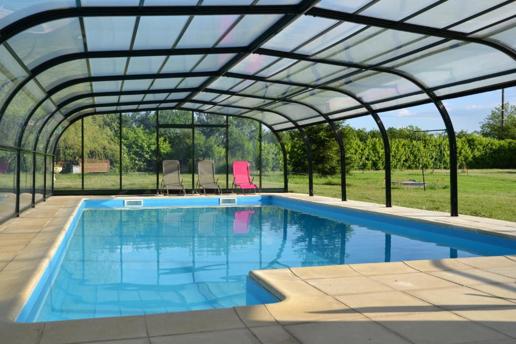 The swimming pool at or near Les Galapons