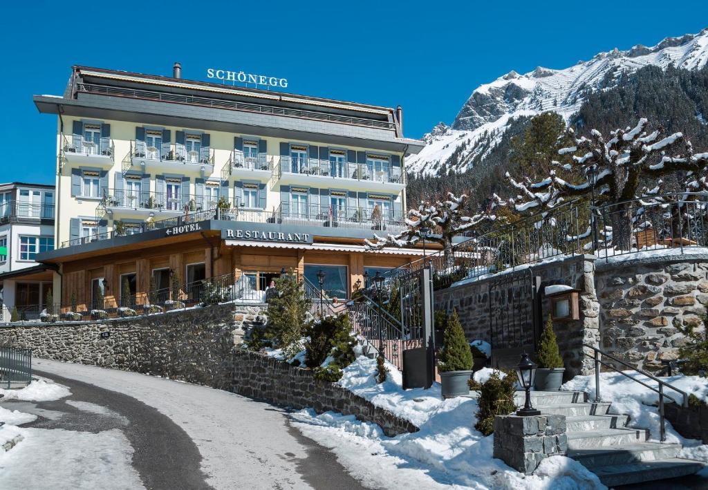 Hotel Schönegg during the winter