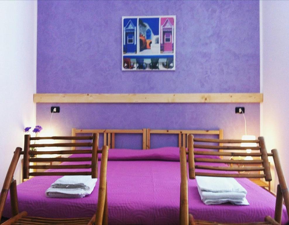 Letto o letti in una camera di B&B Eraclea Minoa Mare