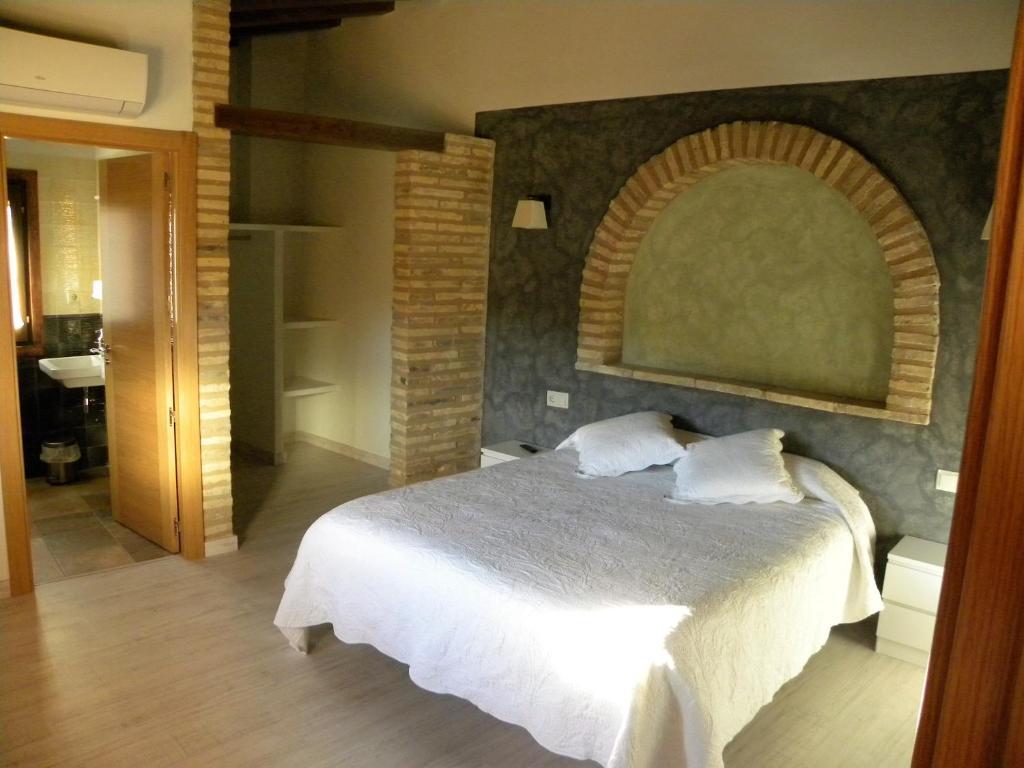 Cama o camas de una habitación en Casa Jabonero