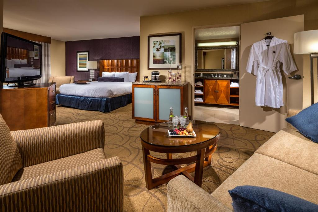 A room at the DoubleTree by Hilton Carson.