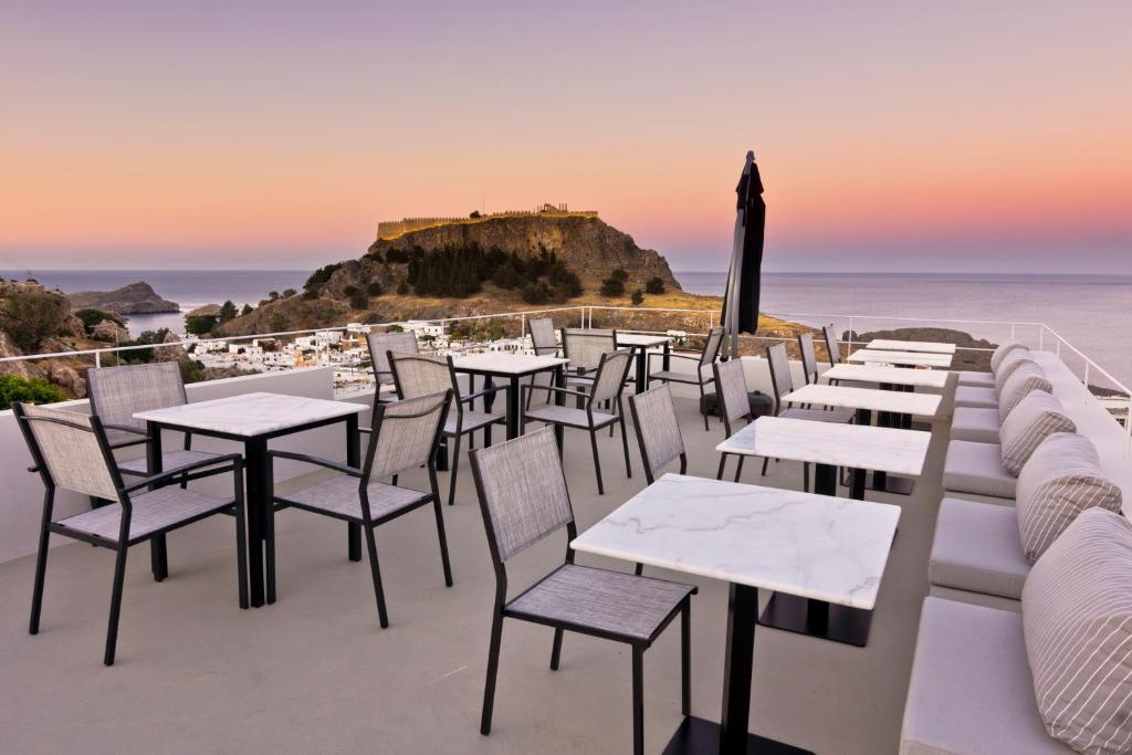 A restaurant or other place to eat at Lindos Comfy Suites
