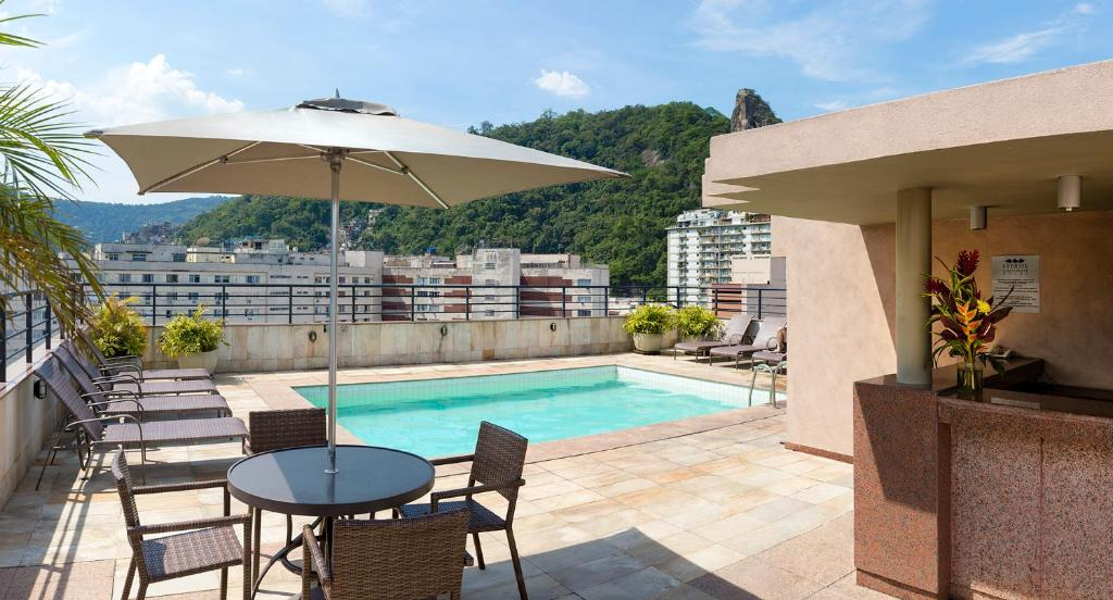 The swimming pool at or near Premier Copacabana Hotel