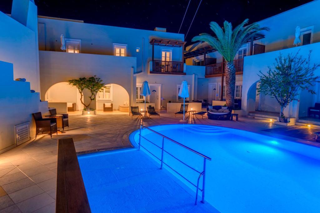 The swimming pool at or near Nissaki Beach Hotel