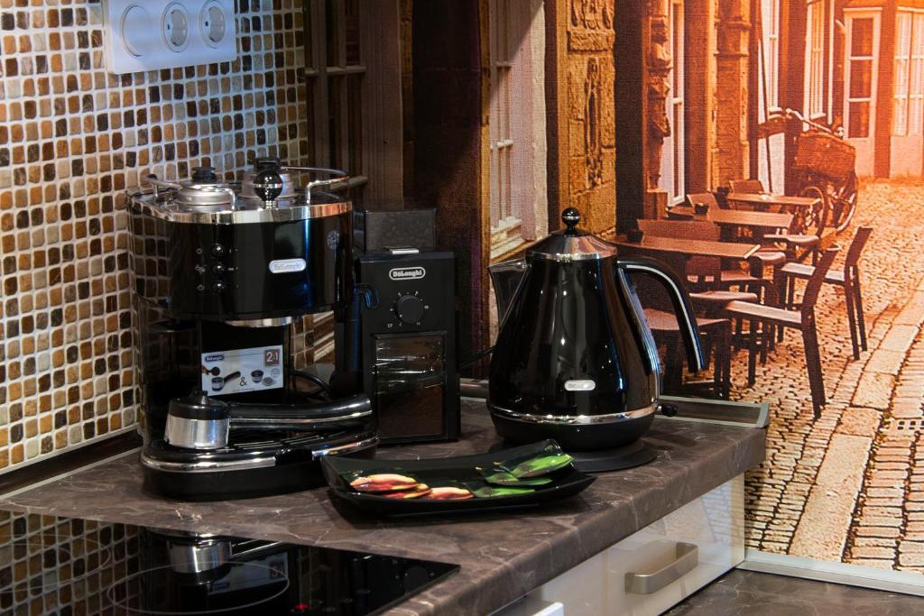 Принадлежности для чая и кофе в Apartments Salt City
