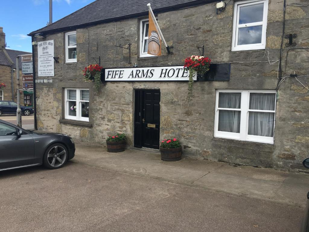The facade or entrance of The Fife Arms Hotel