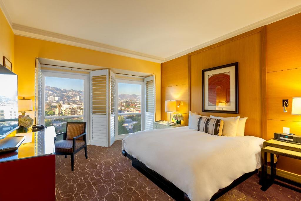 A room at the Hotel Sofitel Los Angeles at Beverly Hills.
