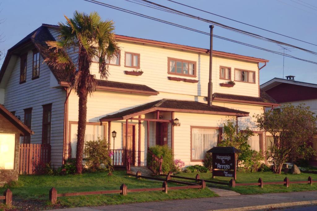 Jardín al aire libre en Hosteria el Arroyo