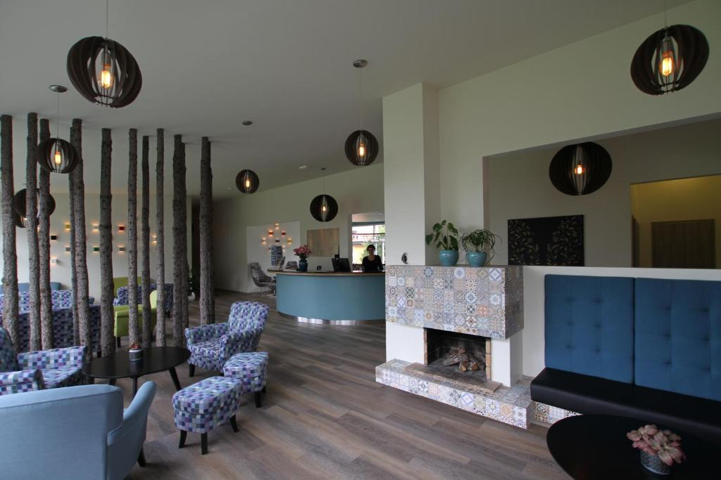 The lobby or reception area at Hotel Hallormsstadur