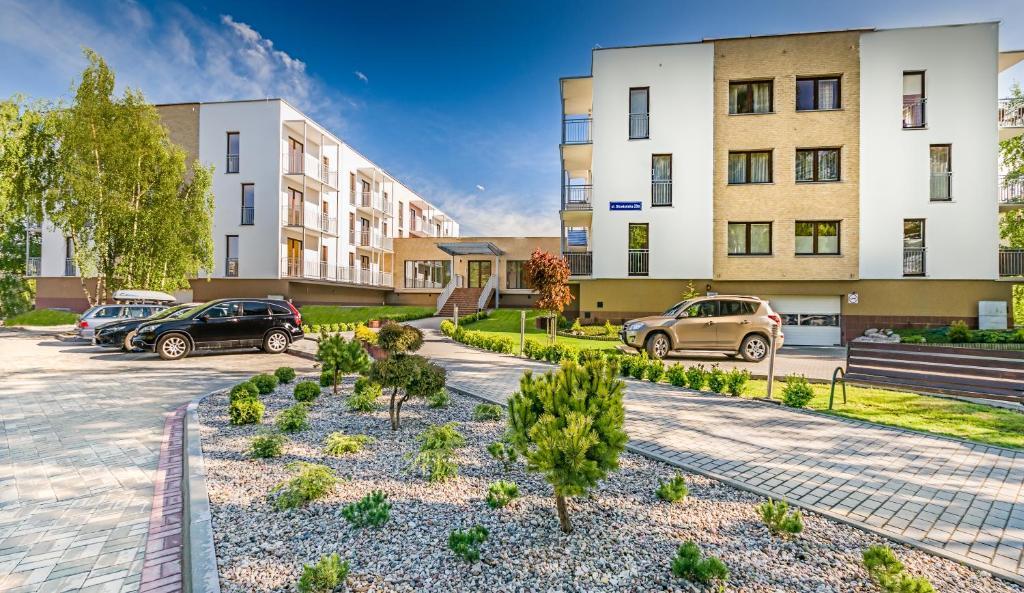 Patio lub wspólna przestrzeń na świeżym powietrzu w obiekcie Apartamenty Bursztynowe Komnaty
