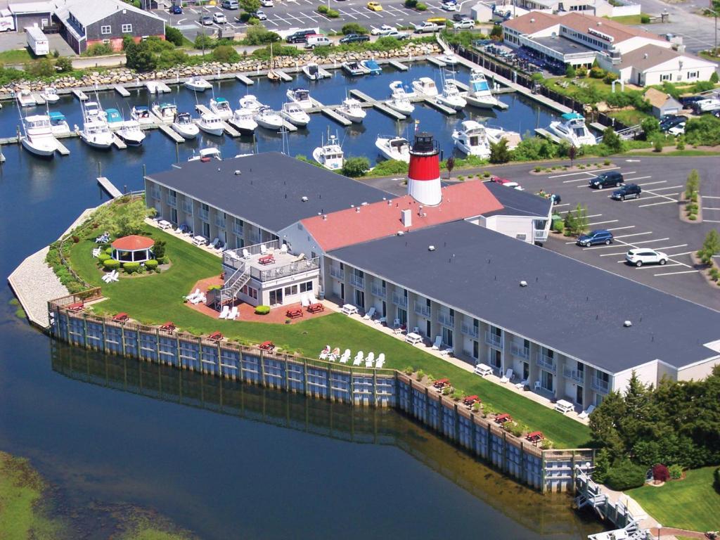 A bird's-eye view of Riverview Resort, a VRI resort