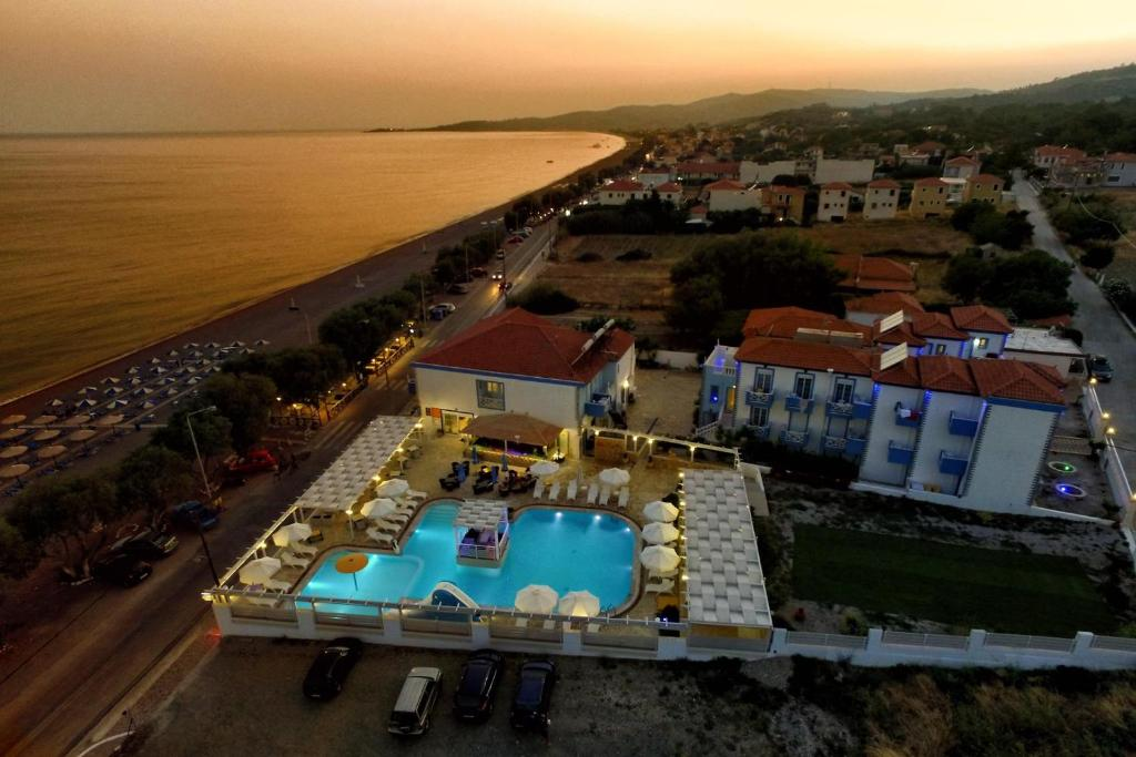 A bird's-eye view of Aphrodite Beach Hotel