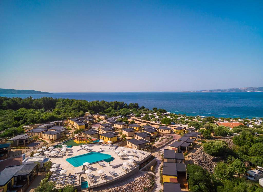 A bird's-eye view of Krk Premium Camping Resort by Valamar