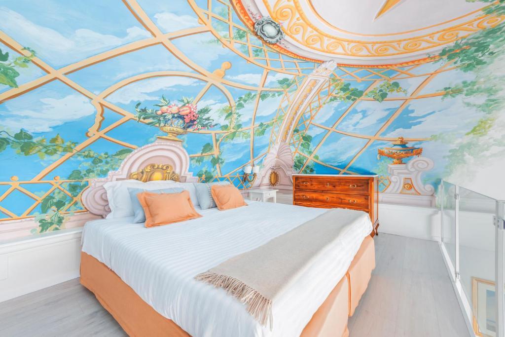 Cama o camas de una habitación en Palazzo Sassi