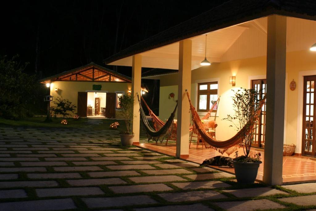 A porch or other outdoor area at Pousada Vilarejo do Quim