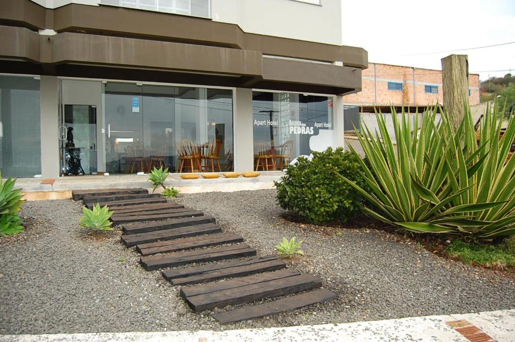 A porch or other outdoor area at Apart Hotel Recanto das Pedras