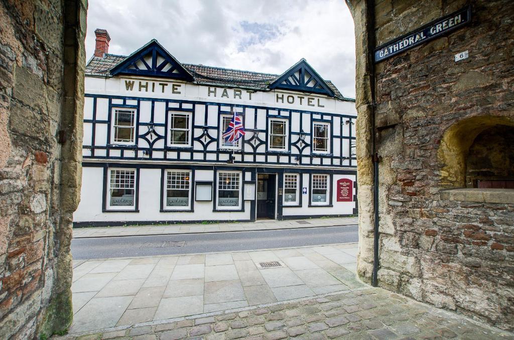 The facade or entrance of White Hart Inn