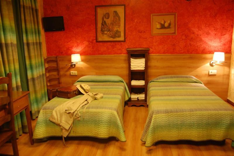 Una habitación en Hotel Rural Bidean