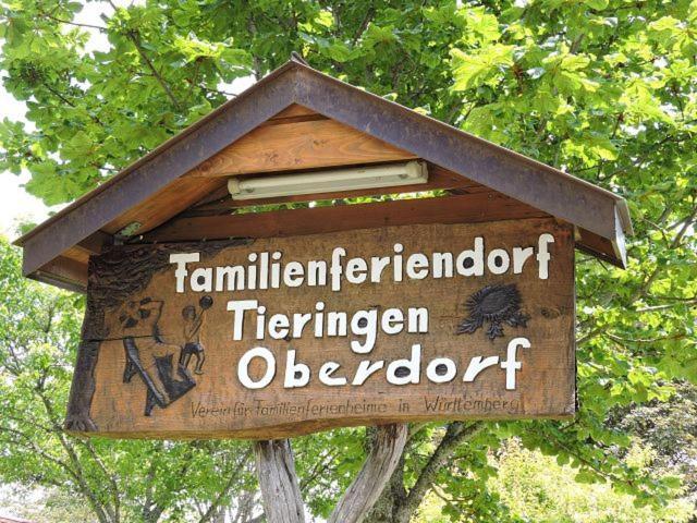 Ein Zertifikat, Auszeichnung, Logo oder anderes Dokument, das in der Unterkunft Feriendorf Tieringen ausgestellt ist
