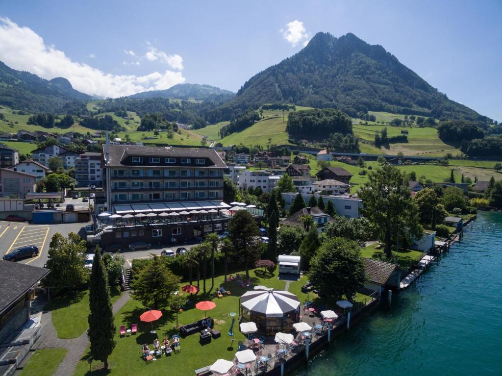 Seerausch Swiss Quality Hotel с высоты птичьего полета